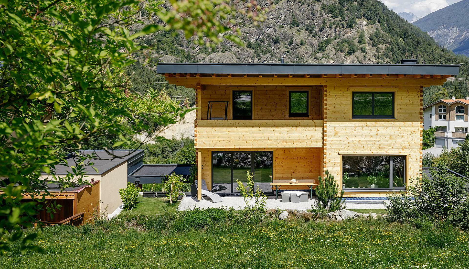 modernes Blockhaus bauen