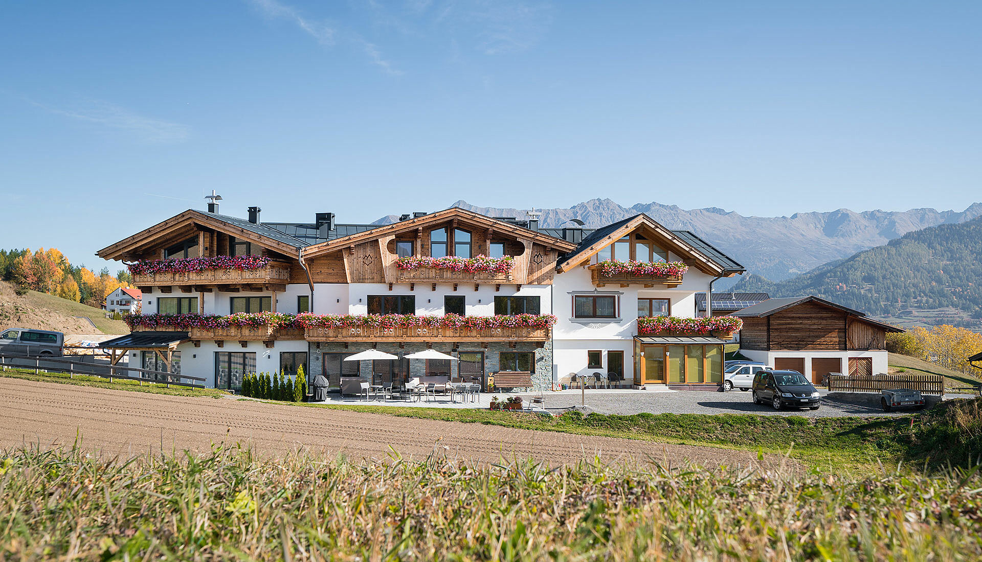 Hotelbau aus Holz