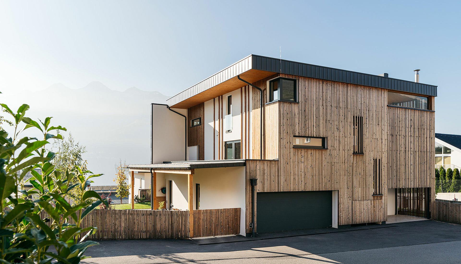 Holzhaus Riegelbauweise